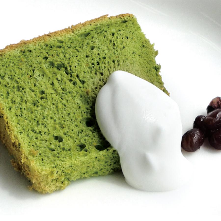 宇治抹茶のふんわりシフォンケーキ