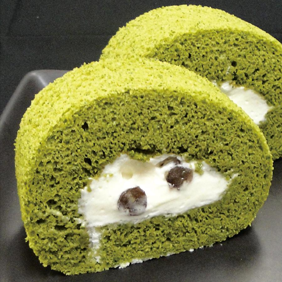 宇治抹茶のしっとりロールケーキ